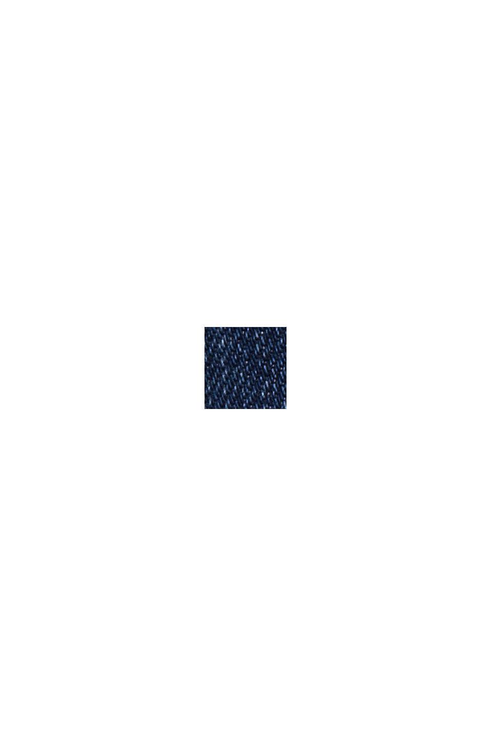 Jean au look usé à deux boutons, en coton biologique, BLUE DARK WASHED, swatch