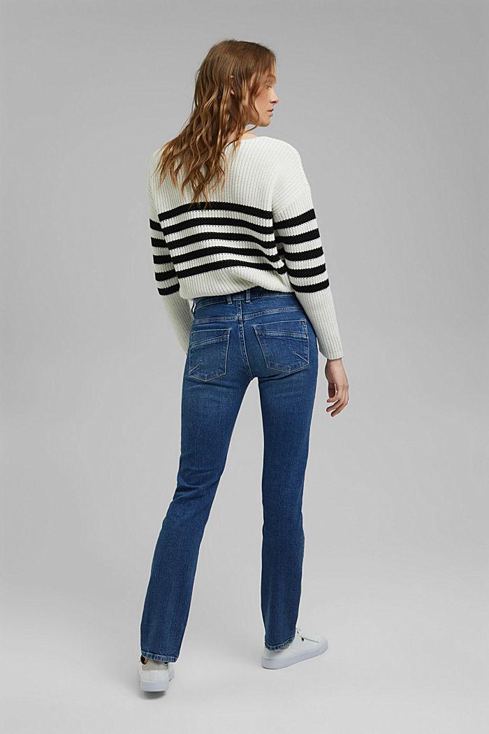 Used-Jeans mit zwei Knöpfen, Bio-Baumwolle, BLUE MEDIUM WASHED, detail image number 3