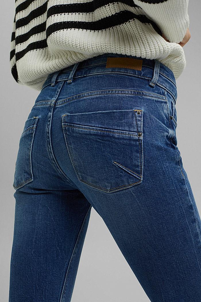 Used-Jeans mit zwei Knöpfen, Bio-Baumwolle, BLUE MEDIUM WASHED, detail image number 5