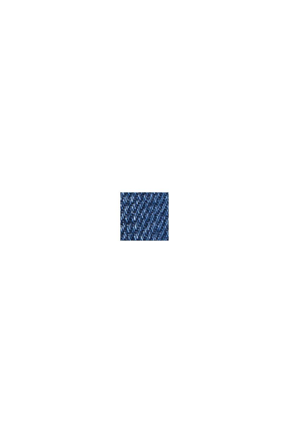 Jean au look usé à deux boutons, en coton biologique, BLUE MEDIUM WASHED, swatch