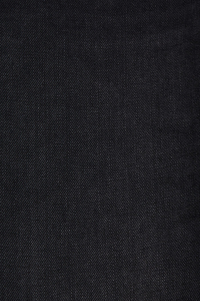 Vintage jeans with two buttons, organic cotton, BLACK DARK WASHED, detail image number 4