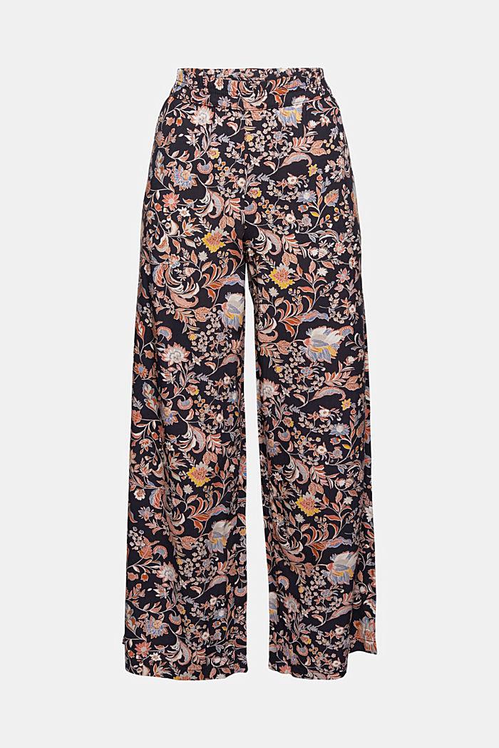 Spodnie z nadrukiem z szerokimi nogawkami, LENZING™ ECOVERO™