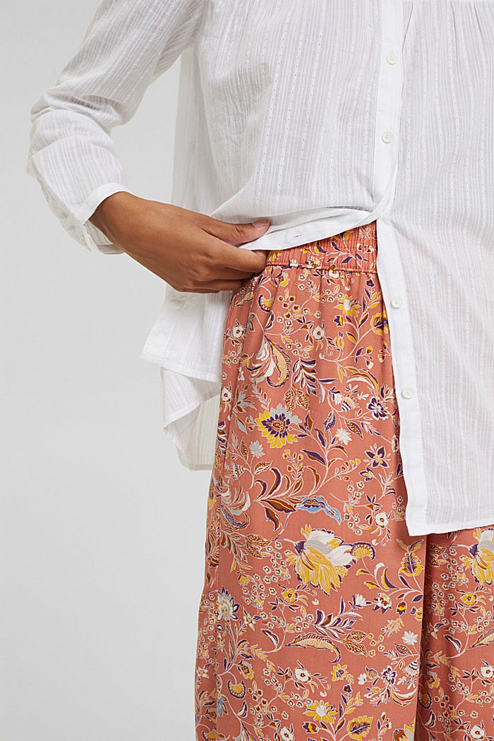Print-Hose mit weitem Bein, LENZING™ ECOVERO™, BLUSH, detail image number 2