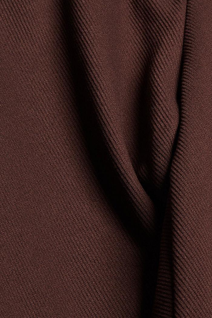 Gerecycled: stretchbroek met elastische band, RUST BROWN, detail image number 4