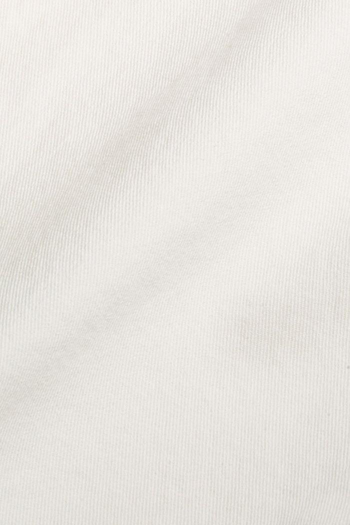 Jean raccourci à taille haute, coton biologique, OFF WHITE, detail image number 4