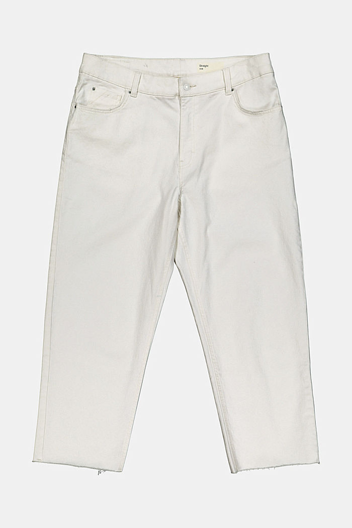 High-waisted cropped jeans, organic cotton