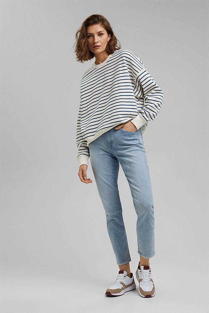 Knöchellange Jeans aus Bio-Baumwolle, BLUE LIGHT WASHED, detail image number 1