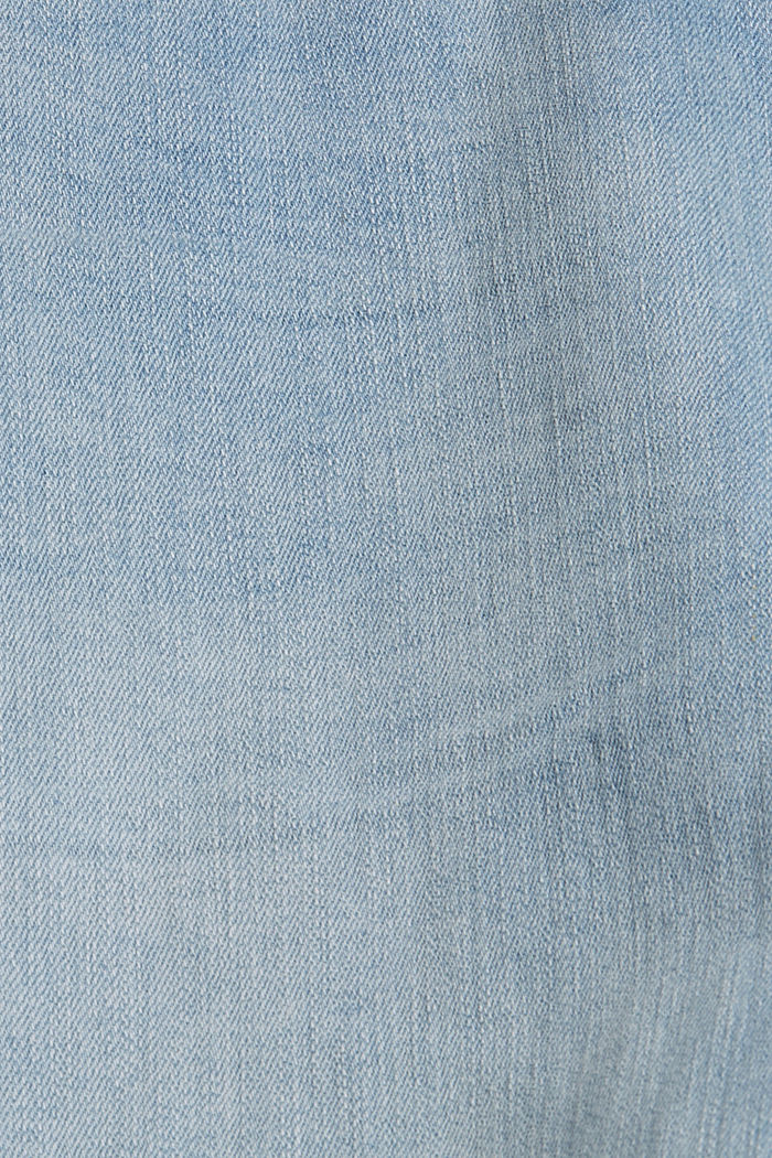 Knöchellange Jeans aus Bio-Baumwolle, BLUE LIGHT WASHED, detail image number 4