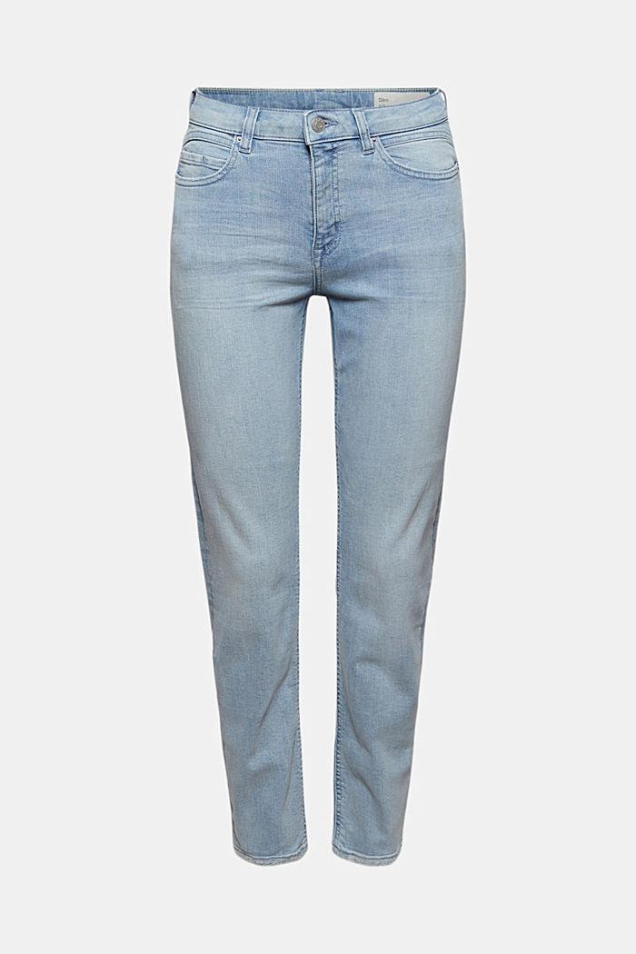 Knöchellange Jeans aus Bio-Baumwolle, BLUE LIGHT WASHED, detail image number 6