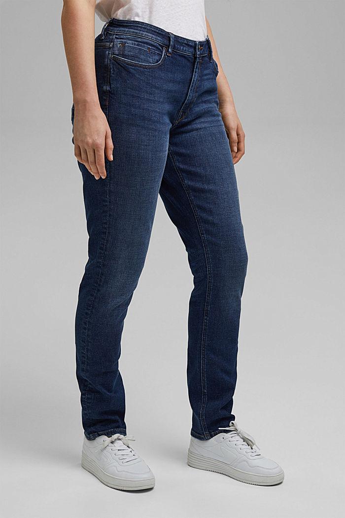 CURVY Stretch-Jeans aus Organic Cotton, BLUE DARK WASHED, detail image number 0