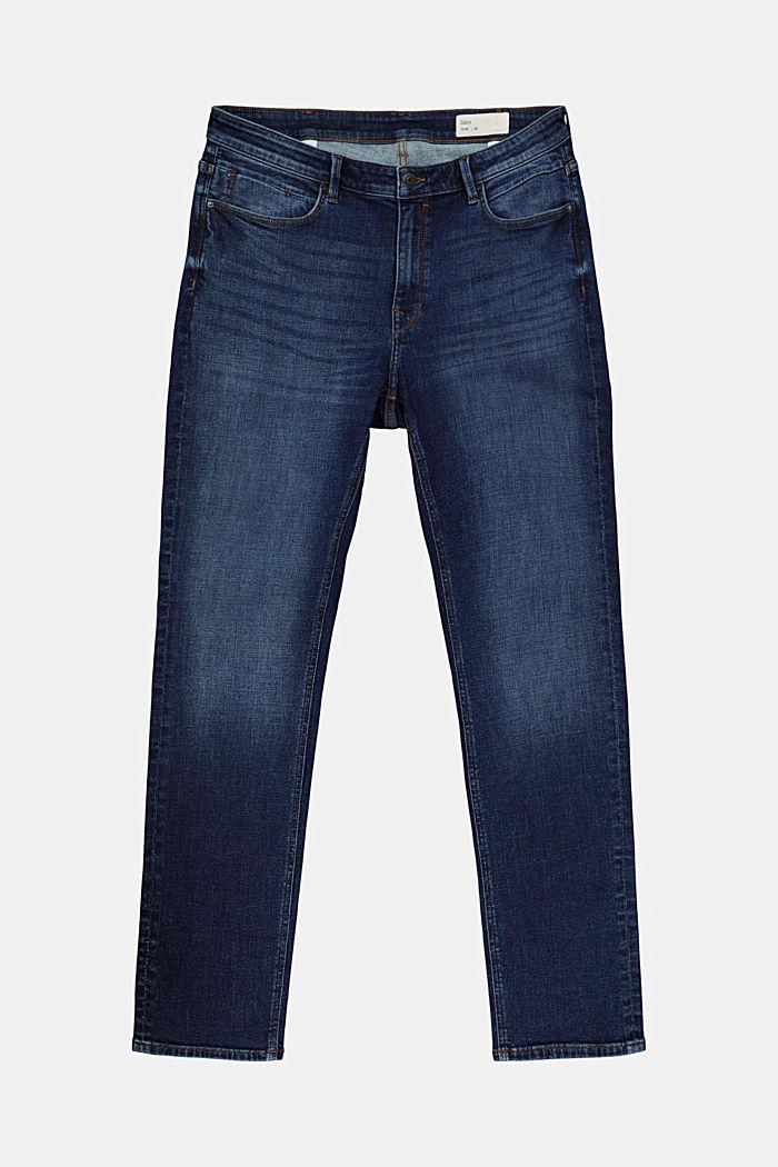 CURVY Stretch-Jeans aus Organic Cotton, BLUE DARK WASHED, detail image number 4