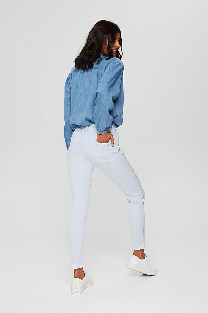 Pantalon stretch à rayures décoratives sur les côtés, PASTEL BLUE, detail image number 3