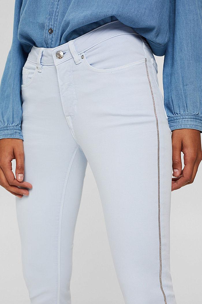 Pantalon stretch à rayures décoratives sur les côtés, PASTEL BLUE, detail image number 2
