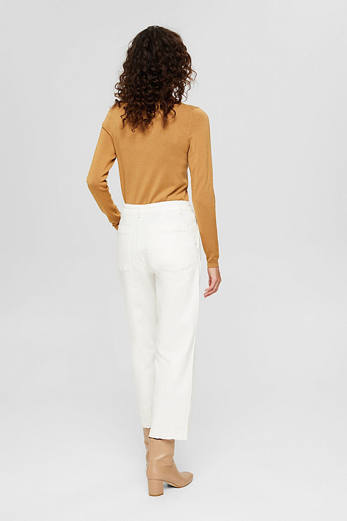 Pantalon 7/8 ample à bords francs, OFF WHITE, detail image number 3