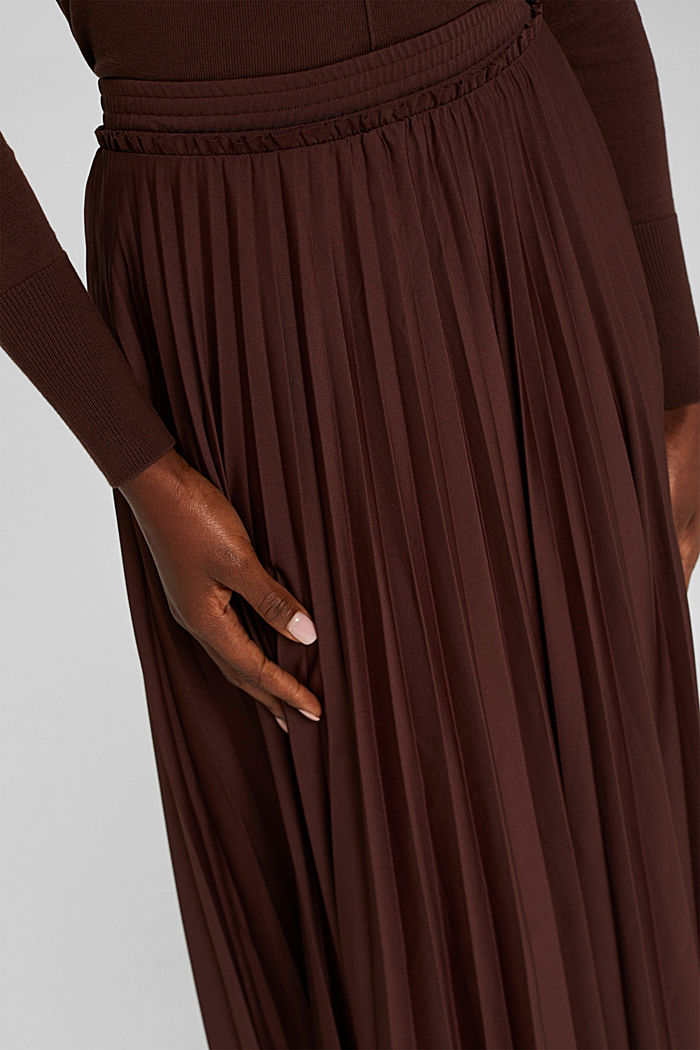 Skirts knitted Pleated Skirt midi, RUST BROWN, detail image number 2