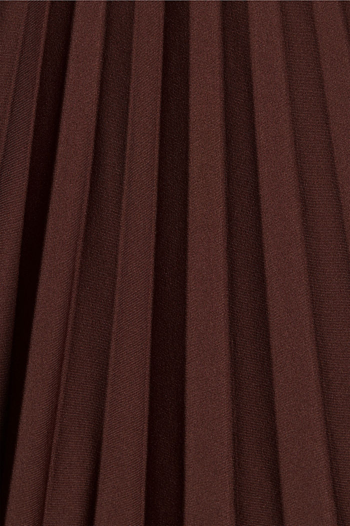 Skirts knitted Pleated Skirt midi, RUST BROWN, detail image number 4