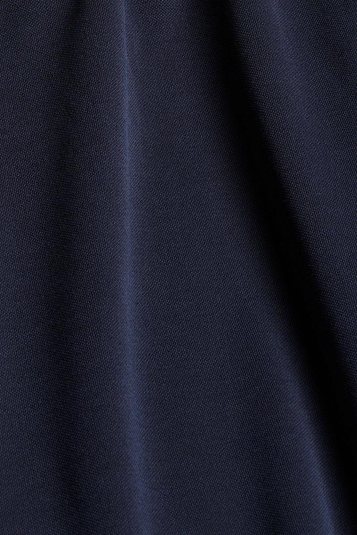 Jurk met matte glans en sierknopen, NAVY, detail image number 4