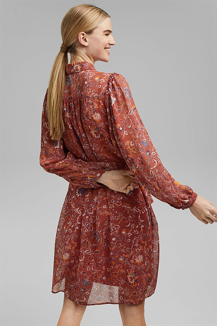 Floral chiffon dress with batwing sleeves, BLUSH, detail image number 2