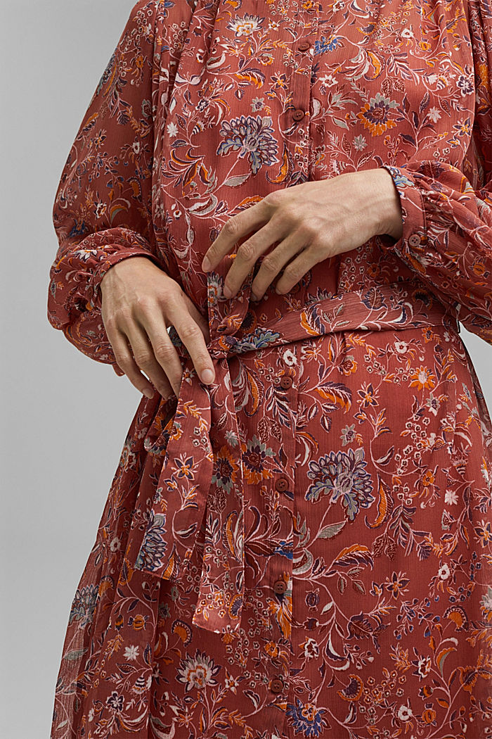 Floral chiffon dress with batwing sleeves, BLUSH, detail image number 3