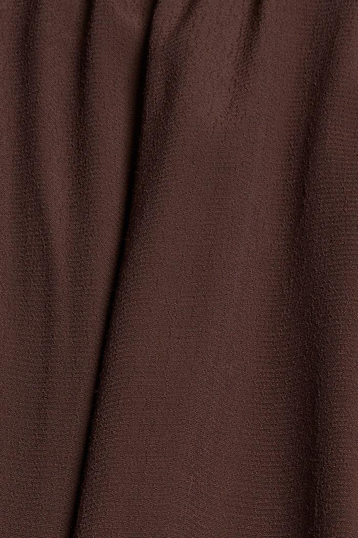 Blousejurk met LENZING™ ECOVERO™, RUST BROWN, detail image number 4