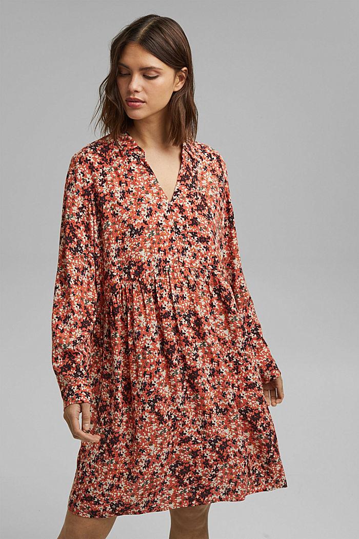 Tältklänning med småblommigt mönster