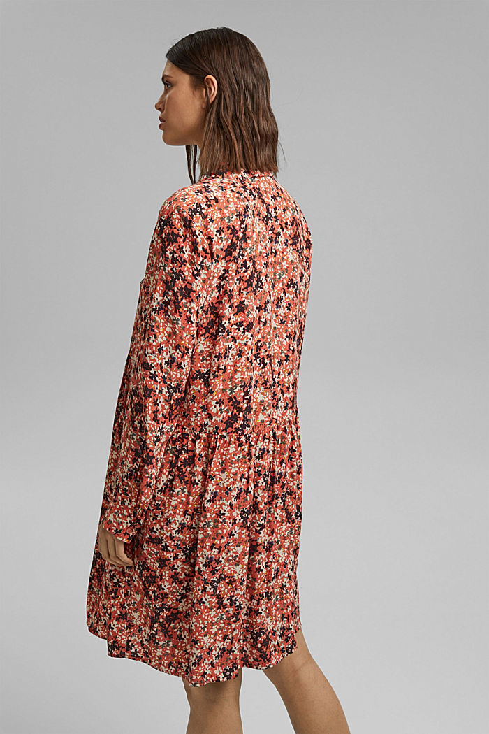 Tent dress with a mille-fleurs print, BLUSH, detail image number 2