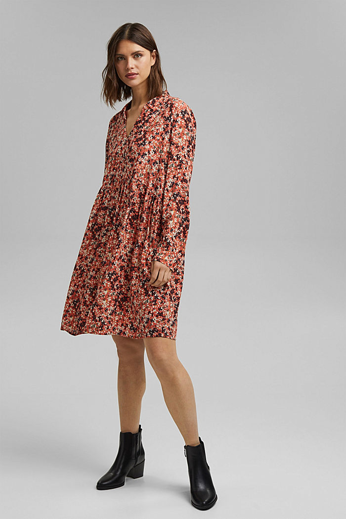 Tent dress with a mille-fleurs print, BLUSH, detail image number 1