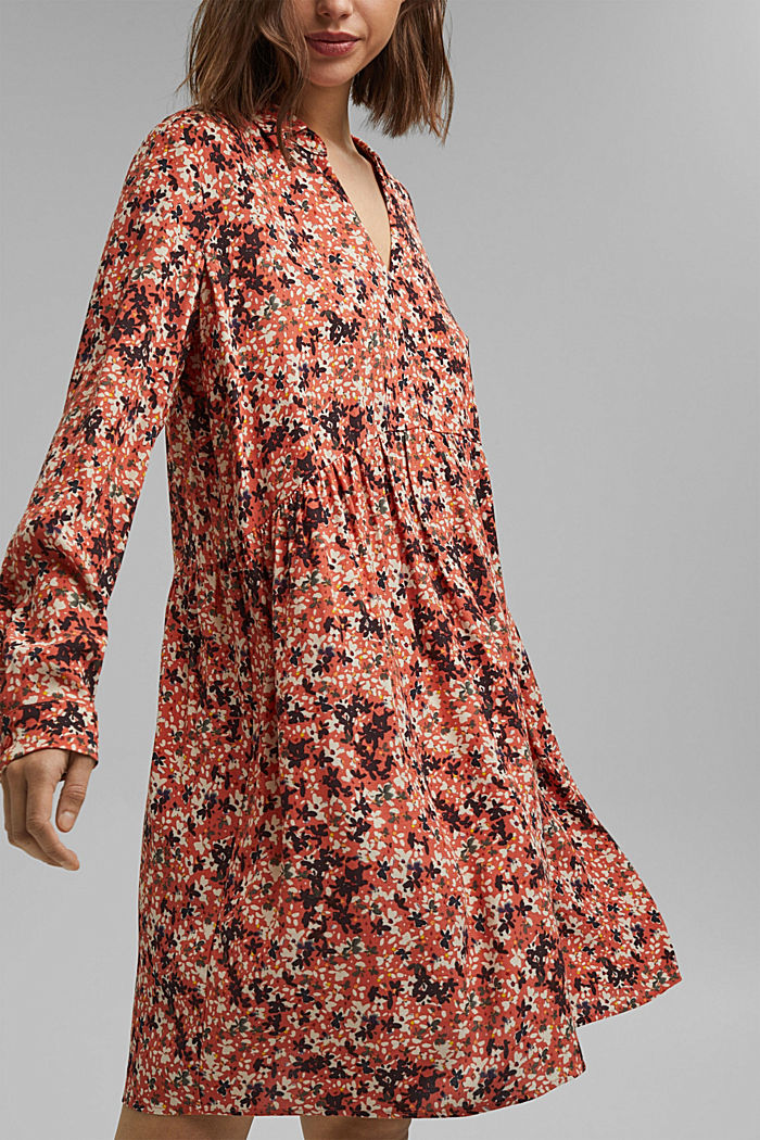 Tent dress with a mille-fleurs print, BLUSH, detail image number 3