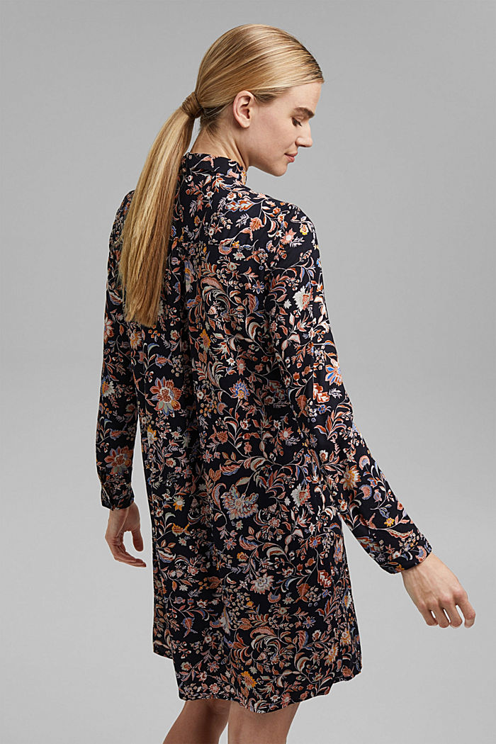Shirt dress with a print, LENZING™ ECOVERO™, NAVY, detail image number 2