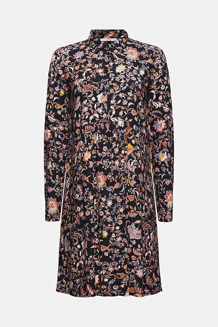 Hemdblusenkleid mit Print, LENZING™ ECOVERO™