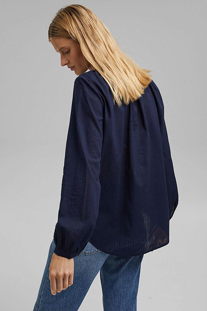 Bluse mit Webstruktur aus 100% Baumwolle, NAVY, detail image number 3