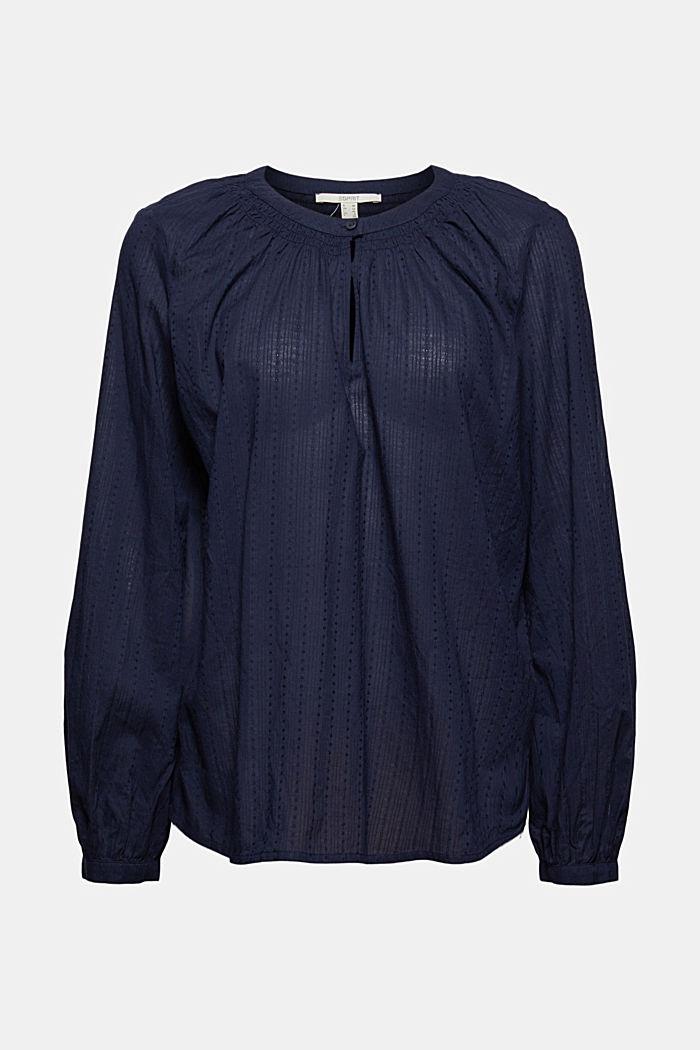 Bluse mit Webstruktur aus 100% Baumwolle, NAVY, detail image number 5