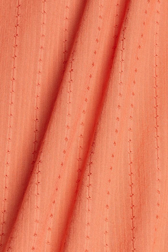 Chemisier à texture tissée, 100% coton, BLUSH, detail image number 4