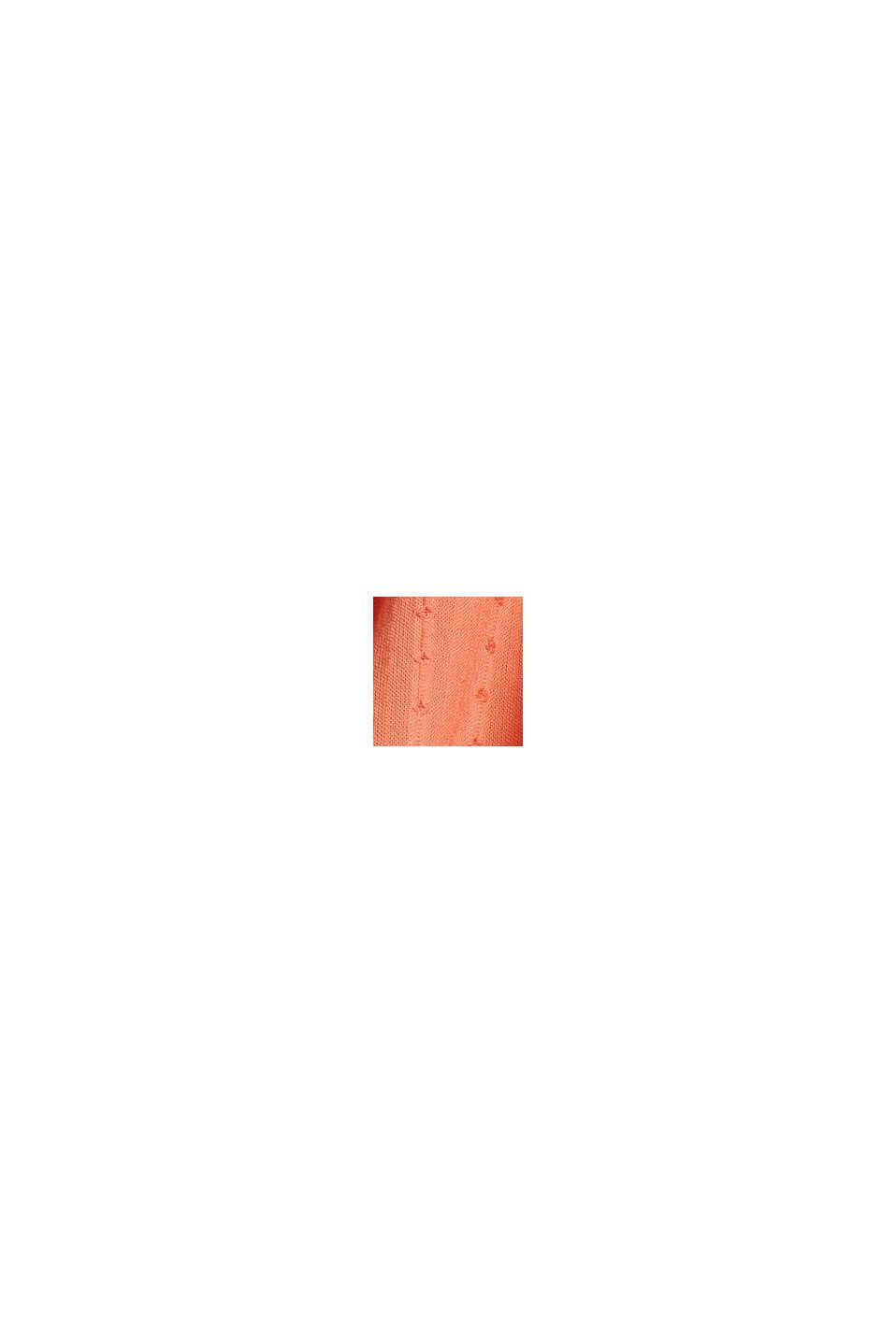 Blouse met geweven structuur, 100% katoen, BLUSH, swatch