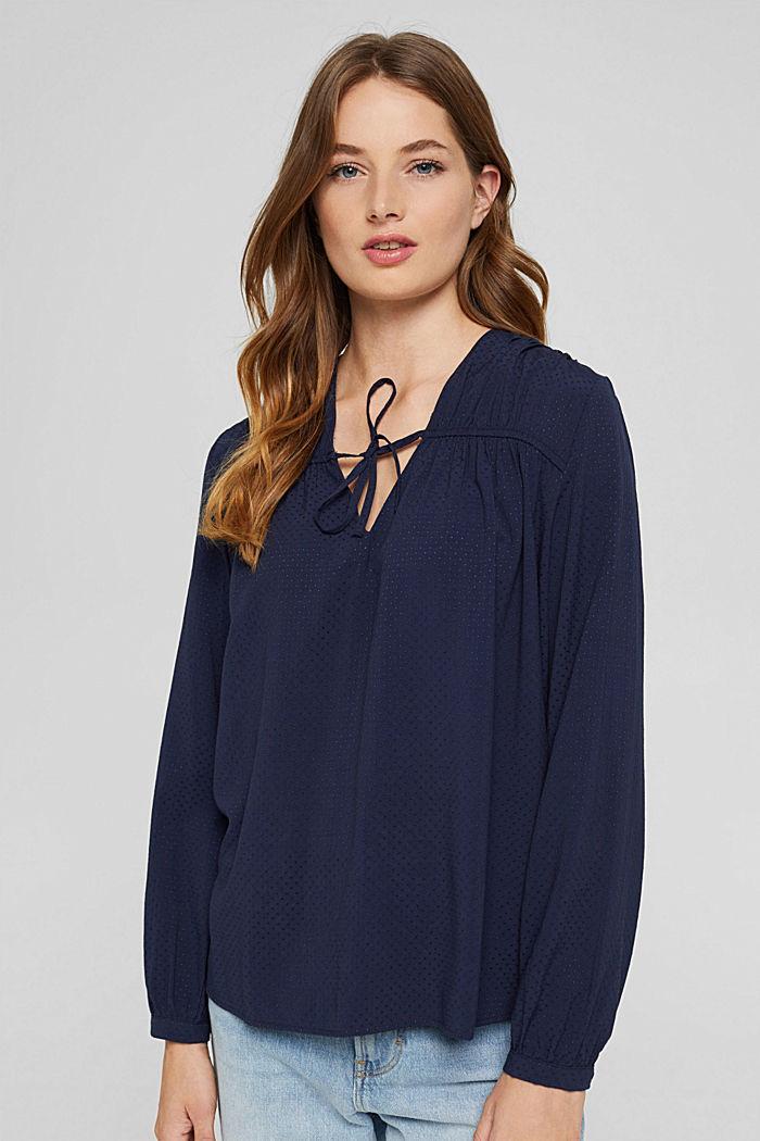 Jacquard tunic with LENZING™ ECOVERO™