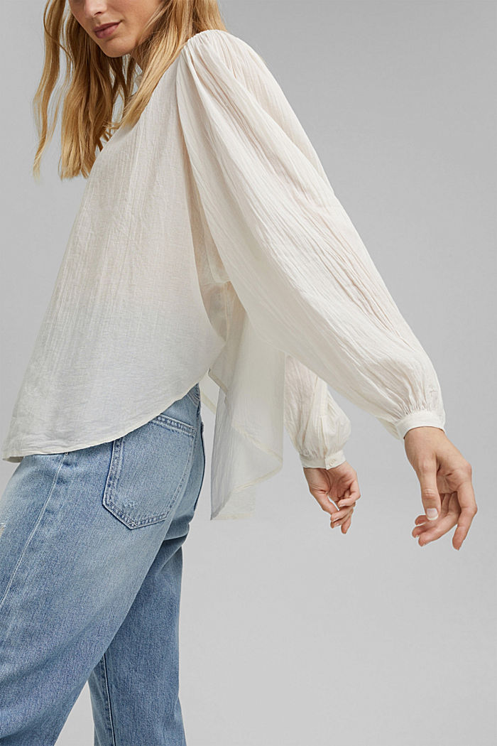 Batwing blouse made of cotton voile