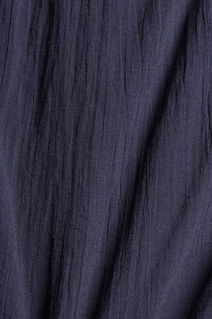 Halenka s netopýřími rukávy, z bavlněného voálu, NAVY, detail image number 4