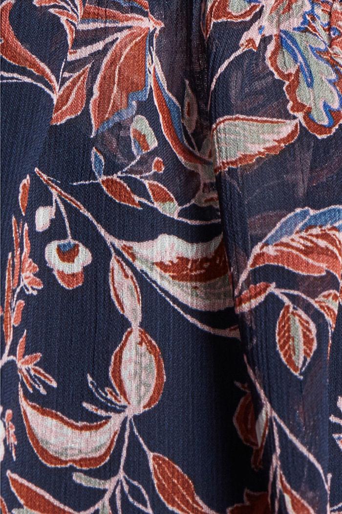 Geblümte Fledermaus-Bluse aus Chiffon, NAVY, detail image number 4