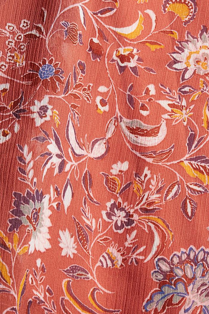Chemisier à manches chauve-souris en mousseline à fleurs, BLUSH, detail image number 4