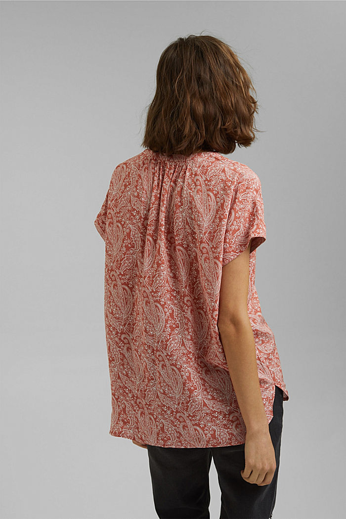 Blouse top made of LENZING™ ECOVERO™, BLUSH, detail image number 3