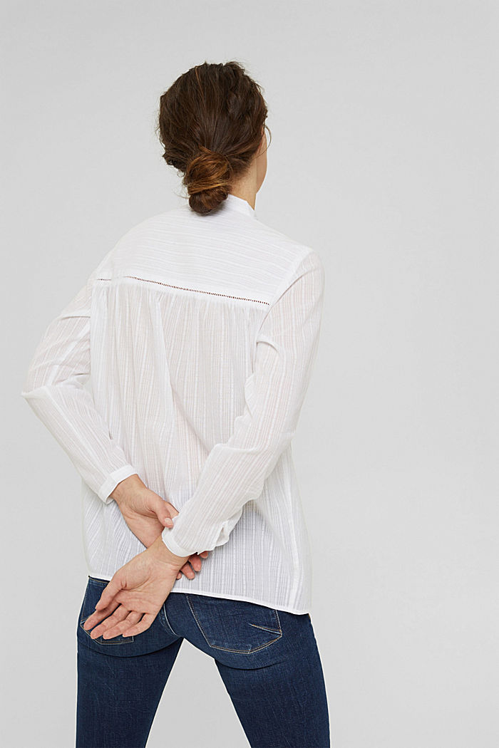 Chemisier à broderie anglaise, 100% coton, WHITE, detail image number 3