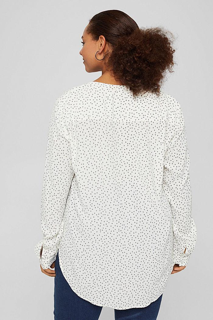 CURVY Tunika-Bluse aus LENZING™ ECOVERO™, OFF WHITE, detail image number 3