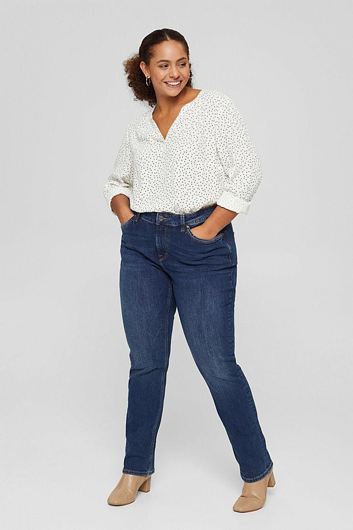 CURVY Tunika-Bluse aus LENZING™ ECOVERO™, OFF WHITE, detail image number 6
