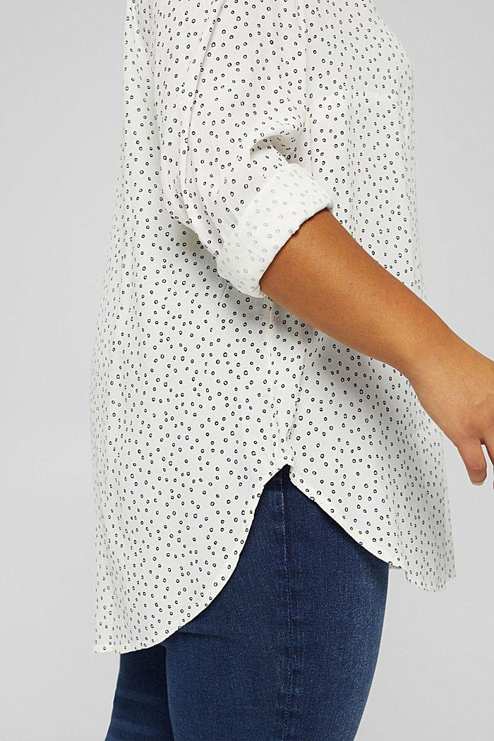 CURVY Tunika-Bluse aus LENZING™ ECOVERO™, OFF WHITE, detail image number 2
