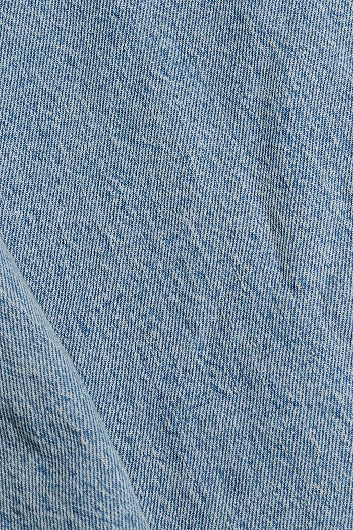 Džínové košilová bunda z bio bavlny, BLUE LIGHT WASHED, detail image number 4