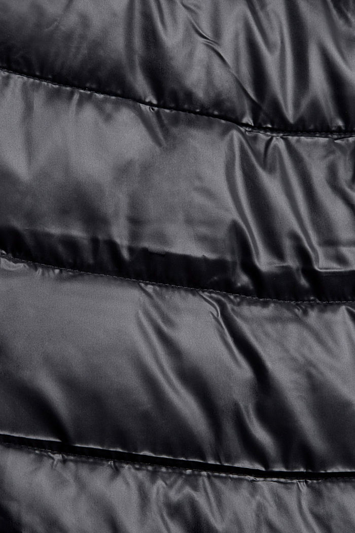 Recycled: lightweight quilted jacket with a hood, BLACK, detail image number 4