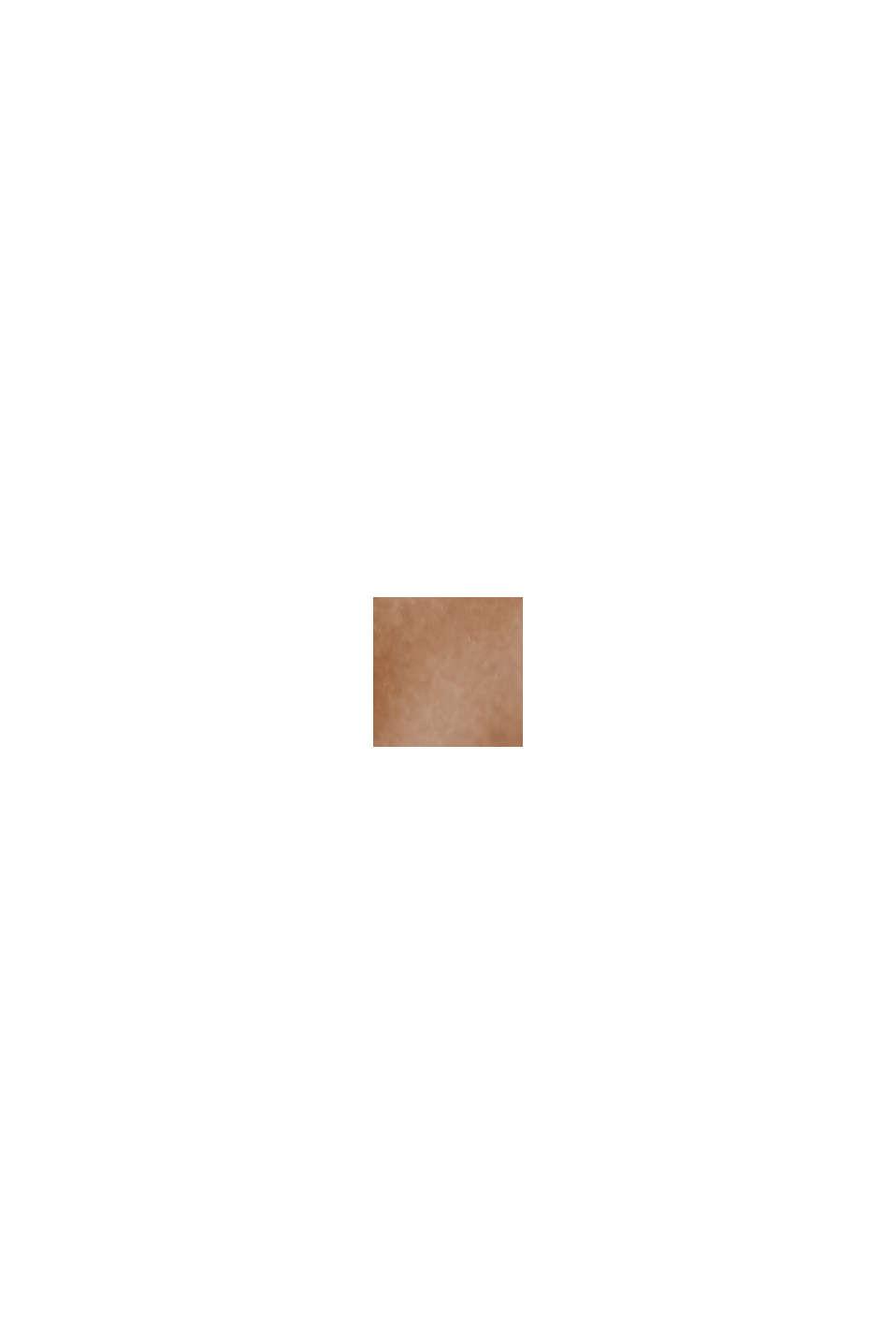 Återvunnet material: lätt quiltad jacka med huva, TOFFEE, swatch