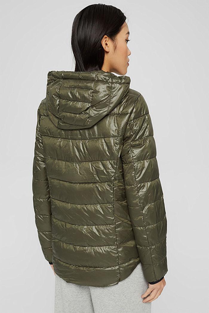 En matière recyclée: la veste matelassée à capuche, DARK KHAKI, detail image number 3
