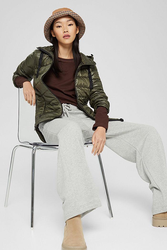 En matière recyclée: la veste matelassée à capuche, DARK KHAKI, detail image number 6