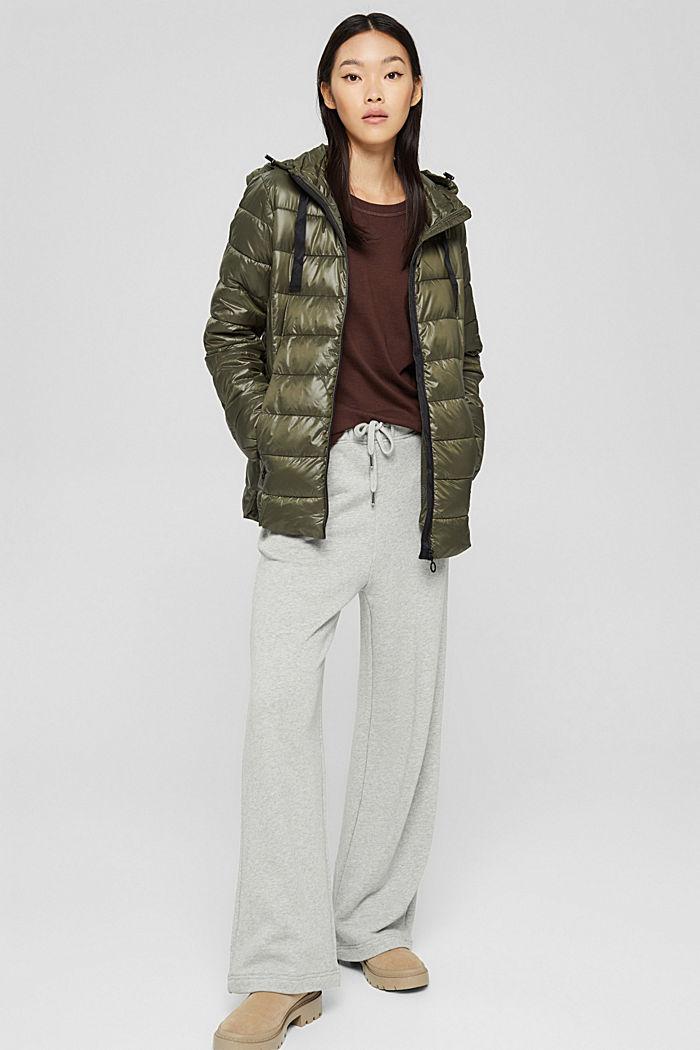 En matière recyclée: la veste matelassée à capuche, DARK KHAKI, detail image number 1